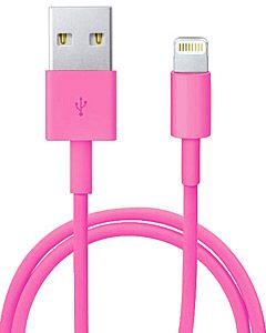 Apple Lightning to USB Cable MD818ZM/A кабель для iPhone 5/iPad  mini/iPad 4 (розовый)