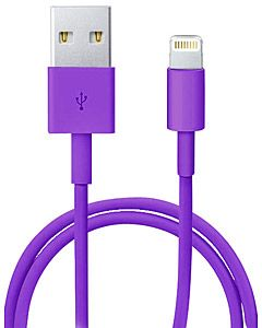 Apple Lightning to USB Cable MD818ZM/A кабель для iPhone 5/iPad  mini/iPad 4 (фиолетовый)